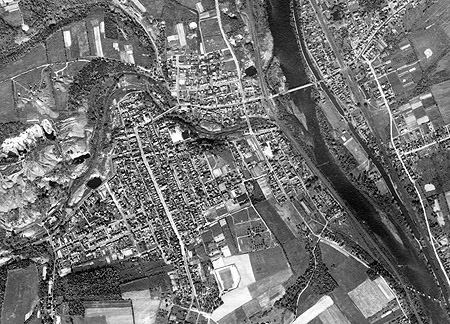 1943 Aerial view of Slatington