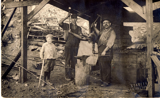 slate quarry blacksmith shop workers  u00b7 slatington postcards