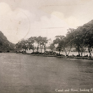 Canal and River, looking East, Lehigh Gap, Pa.