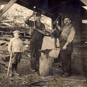 Slate Quarry Blacksmith Shop Workers