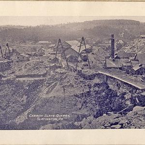 Carbon Slate Quarry, Slatington, PA.