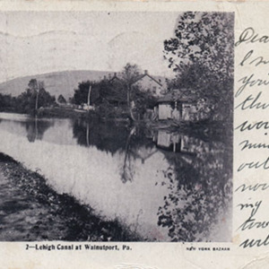 Lehigh Canal at Walnutport, Pa.