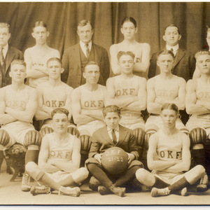 """Slatington Basketball Team, 1921-22 """"O K F"""""""