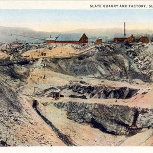 Slate Quarry and Factory, Slatington, PA.