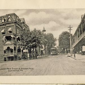 Lower Main Street & Bittner Hotel, Slatington, PA.