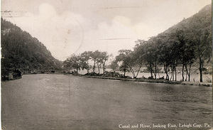 Canal and River, looking East, Lehigh Gap, PA