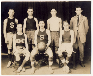 "Slatington Basketball Team, 1916-17 ""S.R.M."""