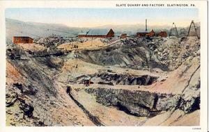 Slate Quarry and Factory, Slatington, Pa