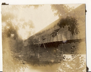 Damaged Old Wooden Bridge over the Lehigh River